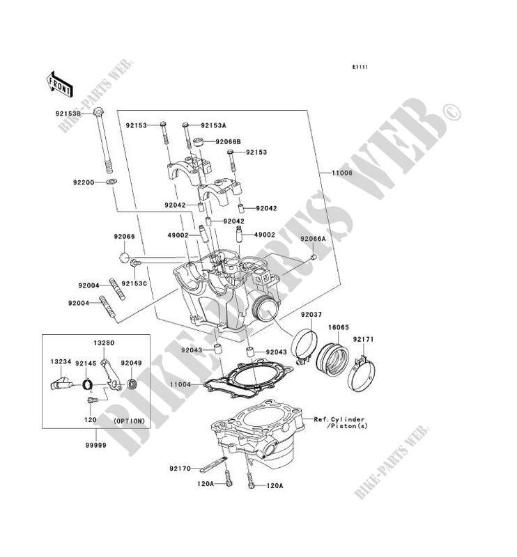 CYLINDER HEAD Kawasaki KX250F 2005 250 KX250N2 9187 KAWASAKI – Kx250f Engine Diagram