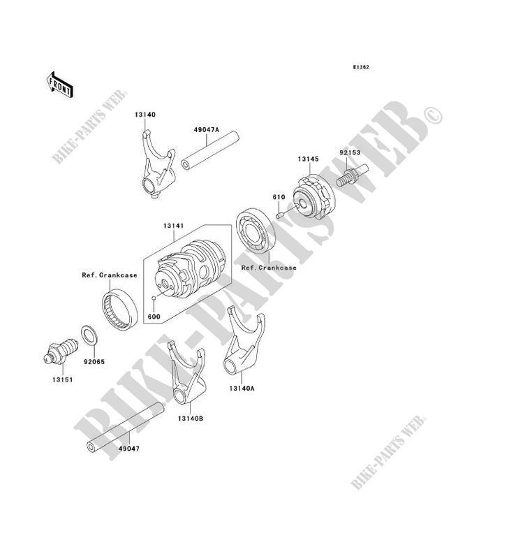 Gear Change Drum Shift Forks Kawasaki Kx250f 2006 250 Kx250t6f