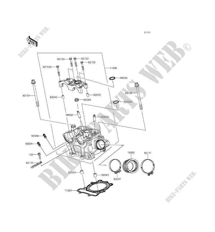 Cylinder Head Kawasaki Kx250f 2016 250 Kx250zgf 9247 Kawasaki