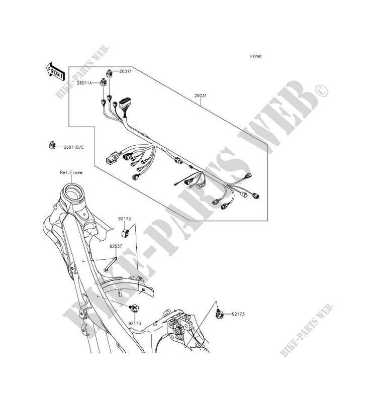 Chassis Electrical Equipment Kx250zgf Kx250f 2016 250 Tout Terrain