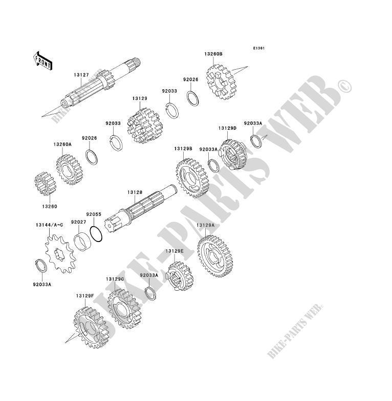 Transmission For Kawasaki Kx85 Kx85 Ii 2003 Kawasaki Genuine Spare Parts Catalog Online