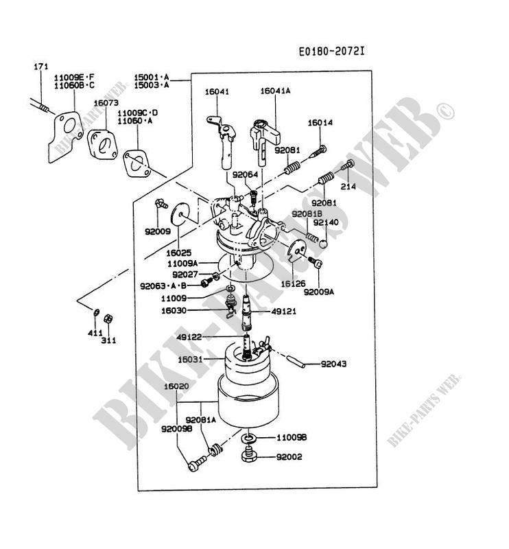 Carburetor Gat00a Cs58 Ga1000a Gat00a Ga Generateur Kawasaki