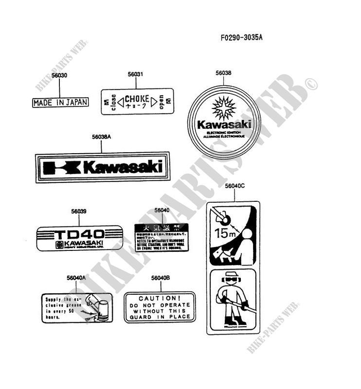 labels ha040a at51 td40 ha040a ha gardiennage kawasaki motorcycle rh bike parts kawa com Kawasaki Vulcan 1500 Classic Kawasaki Mule Parts Diagram