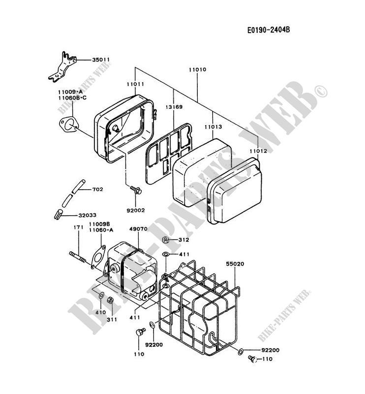 air filter  exhaust kawasaki fa motors fa130d fa fa130d