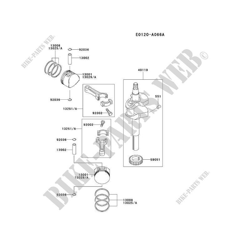 kawasaki petits moteurs fd fd590v fd motors fd590v-as07 fd590v-as07  piston/crankshaft
