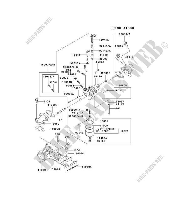CARBURETOR Kawasaki FD MOTORS FD620D FD FD620DCS11 22816 KAWASAKI – Kawasaki Fd620d Engine Parts Diagrams