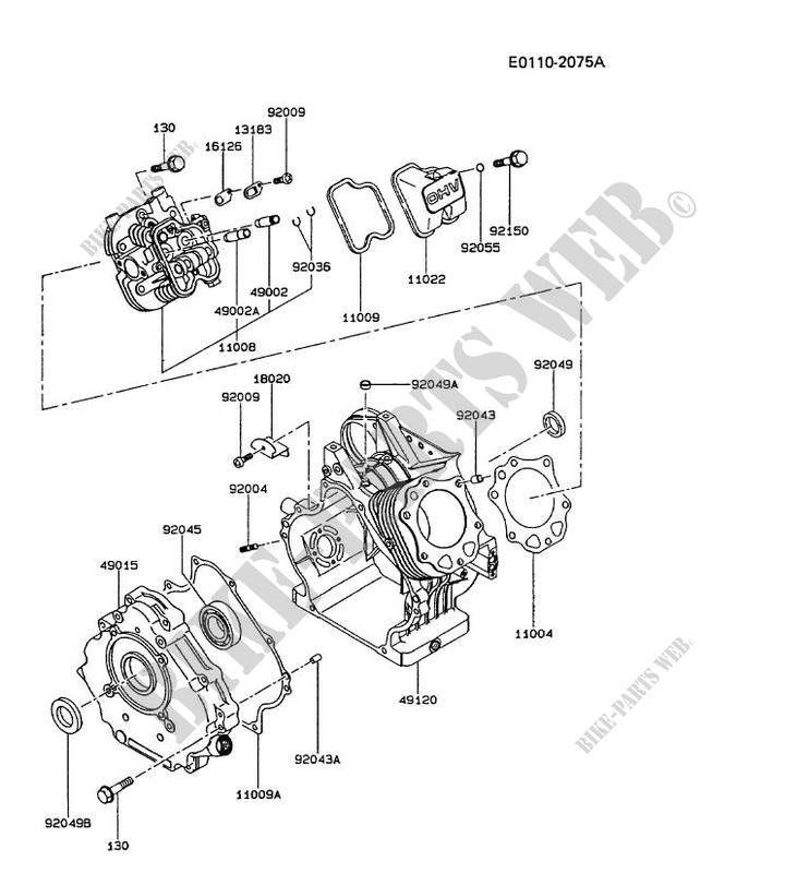 Cylinder Head Crankcase Fe290r As00 Fe Motors Fe290r Fe Petits