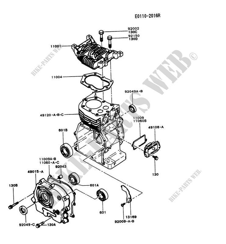 Cylinder Head Crankcase Fg230d Cs50 Fg Motors Fg230d Fg Petits