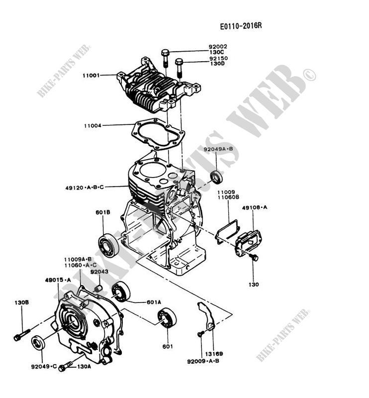 Cylinder Head Crankcase Fg230d Es50 Fg Motors Fg230d Fg Petits