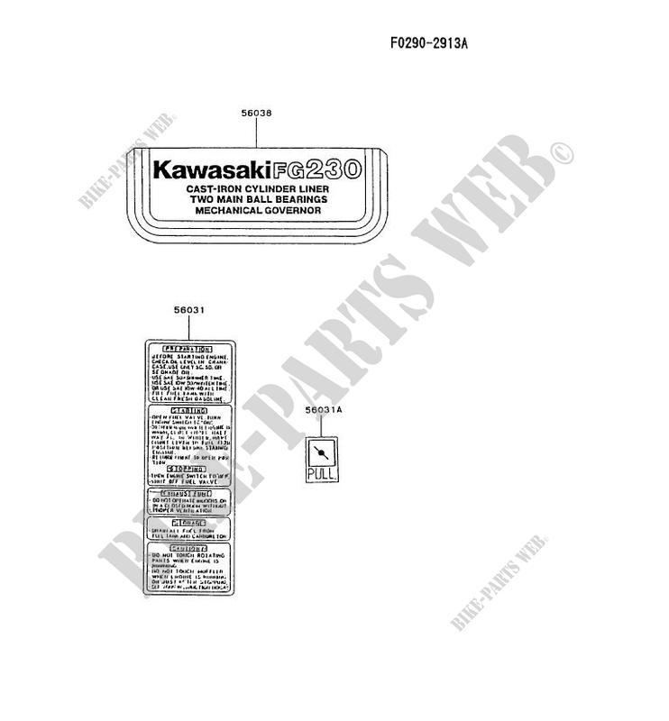 labels fg230g at51 fg motors fg230g fg petits moteurs kawasaki rh bike parts kawa com kawasaki fg 230 manual kawasaki fg 230 manual
