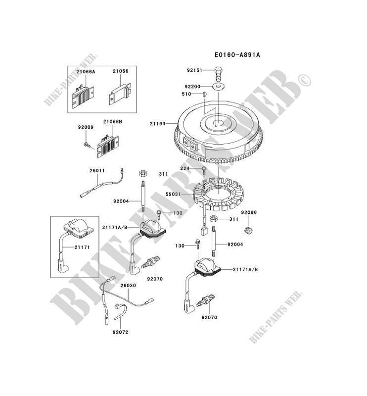 ELECTRIC EQUIPMENT for Kawasaki FH MOTORS FH641V #
