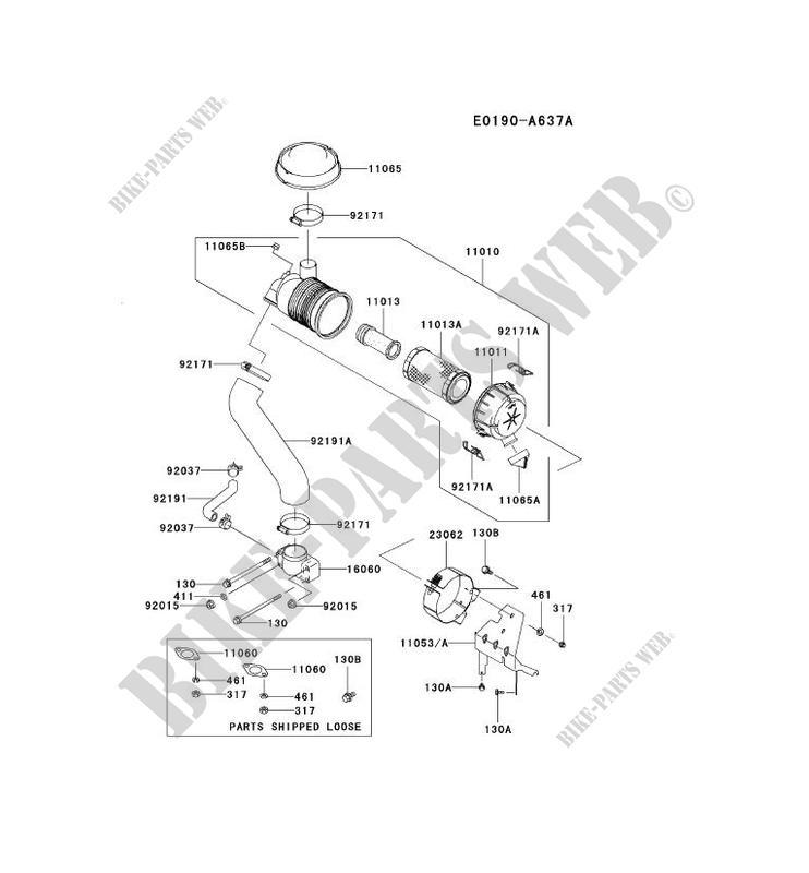 AIR FILTER/EXHAUST for Kawasaki FH MOTORS FH721V #