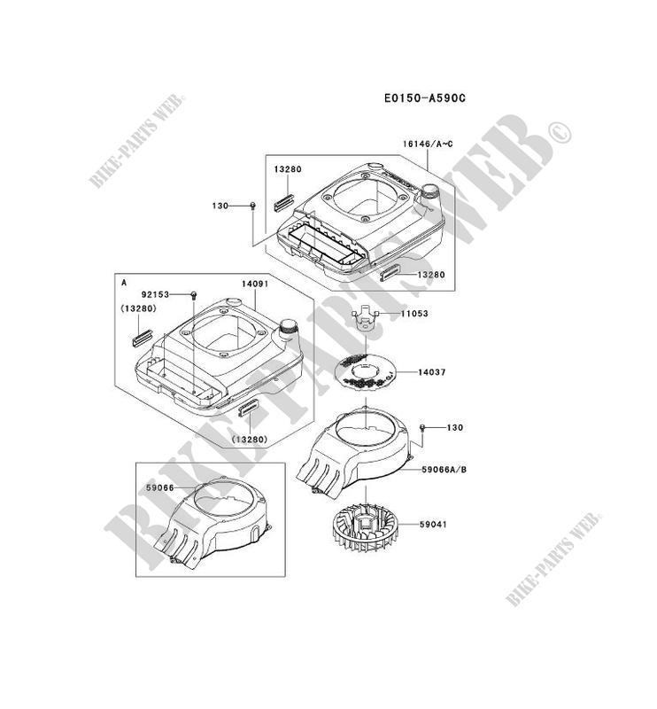 Genuine OEM Kawasaki HOUSING-FAN 59066-7008