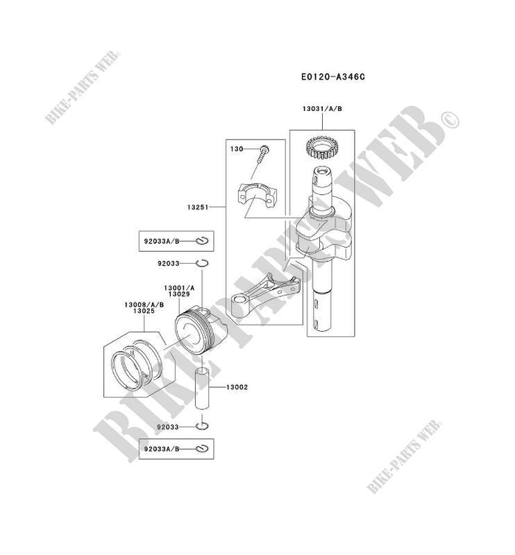Kawasaki BOLT-FLANGED,6X30 130BA0630 Engine Parts