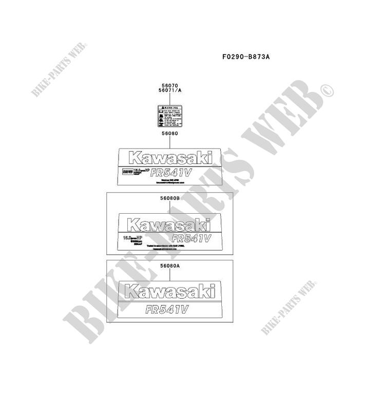 LABELS for Kawasaki FR MOTORS FR541V