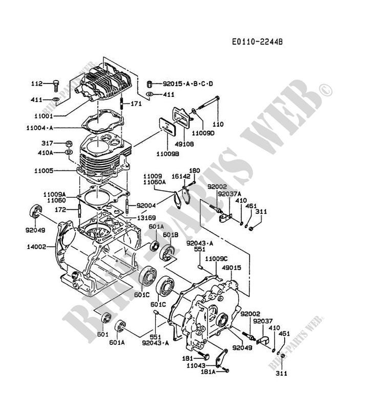 Cylinder Head Crankcase Fz340d Ns03 Fz Motors Fz340d Fz Petits