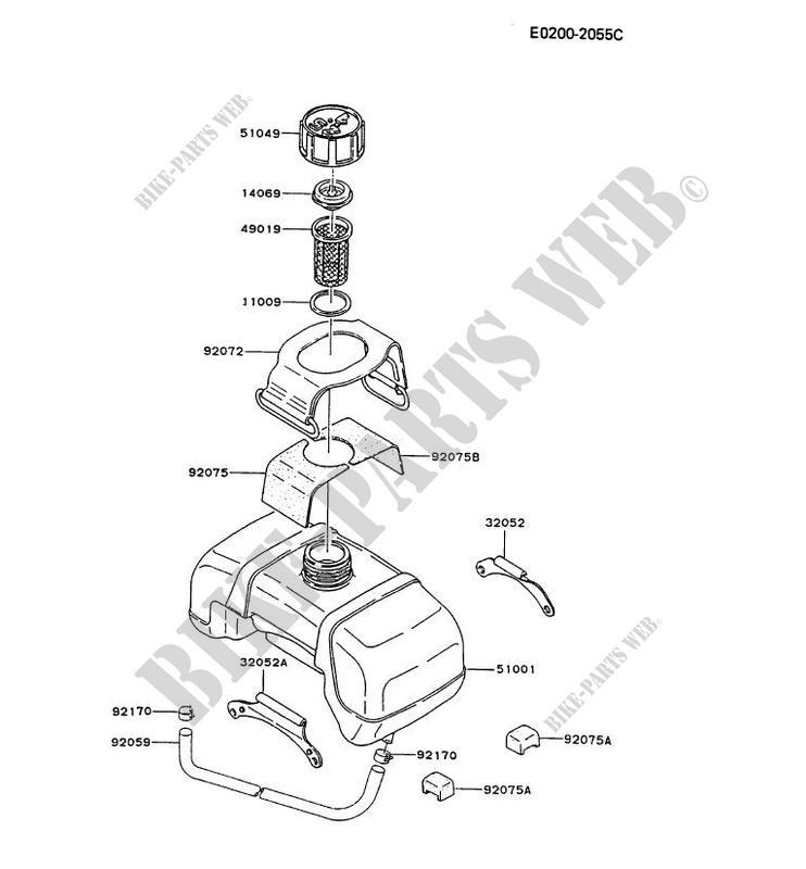 Fuel Tank Td040j Ba06 Td Motors Td040j Td Petits Moteurs Kawasaki
