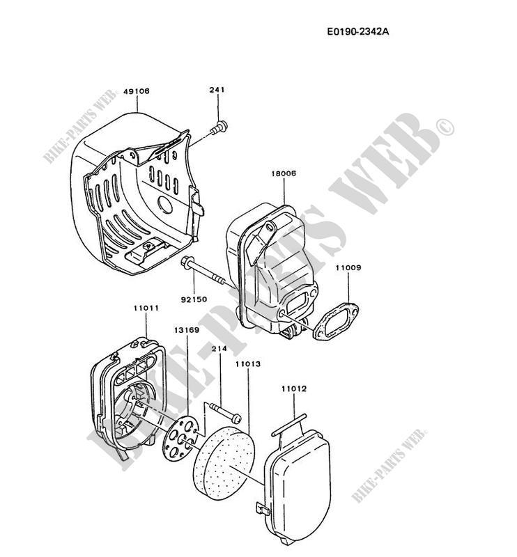 Air Filter Exhaust Td048j Aa50 Td Motors Td048j Td Petits Moteurs