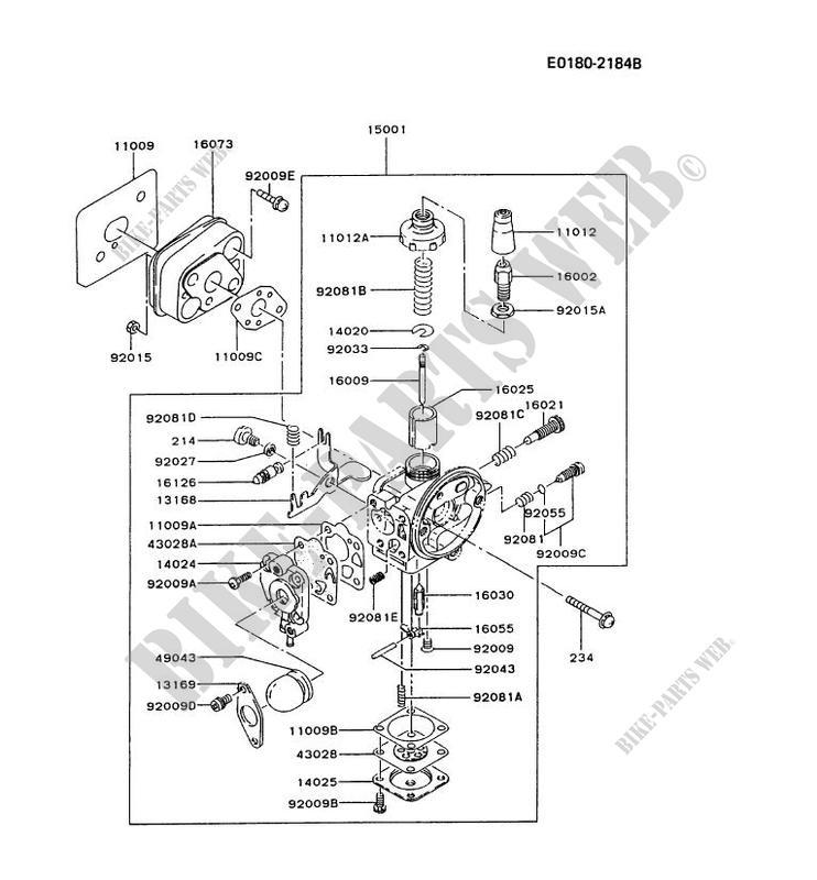Carburetor Tg024d Ac58 Tg Motors Tg024d Tg Petits Moteurs Kawasaki
