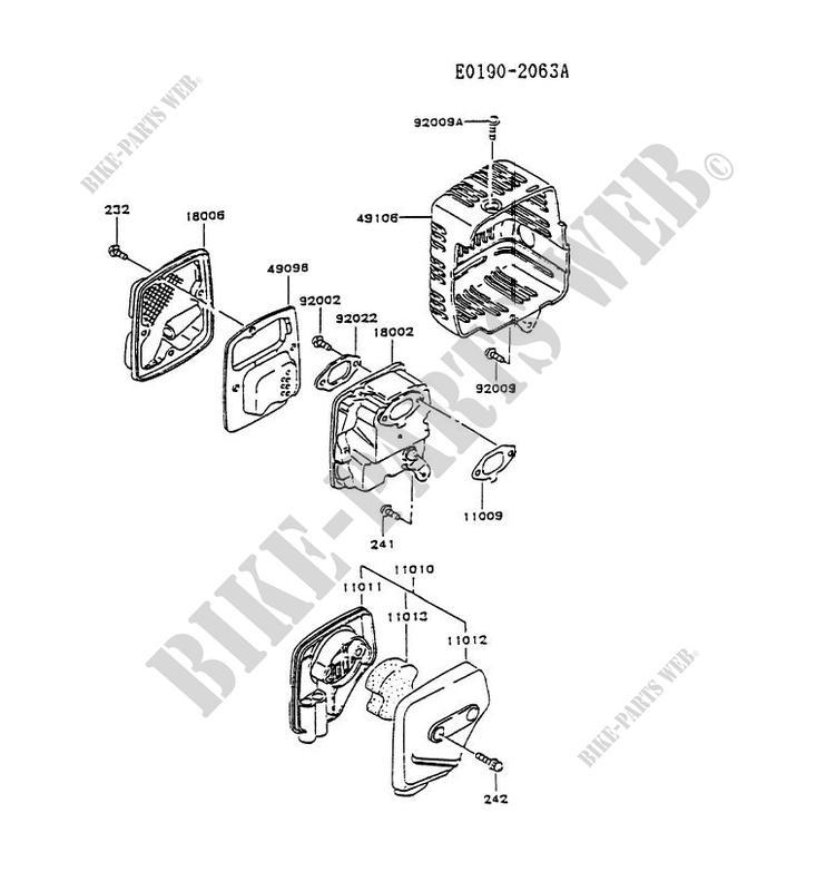 Kawasaki Replacement Part # 11010-2339 air Filter Assy