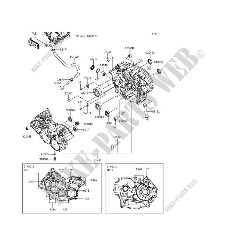 Genuine Kawasaki Ball Bearing PN 92045-1389 92045-1389