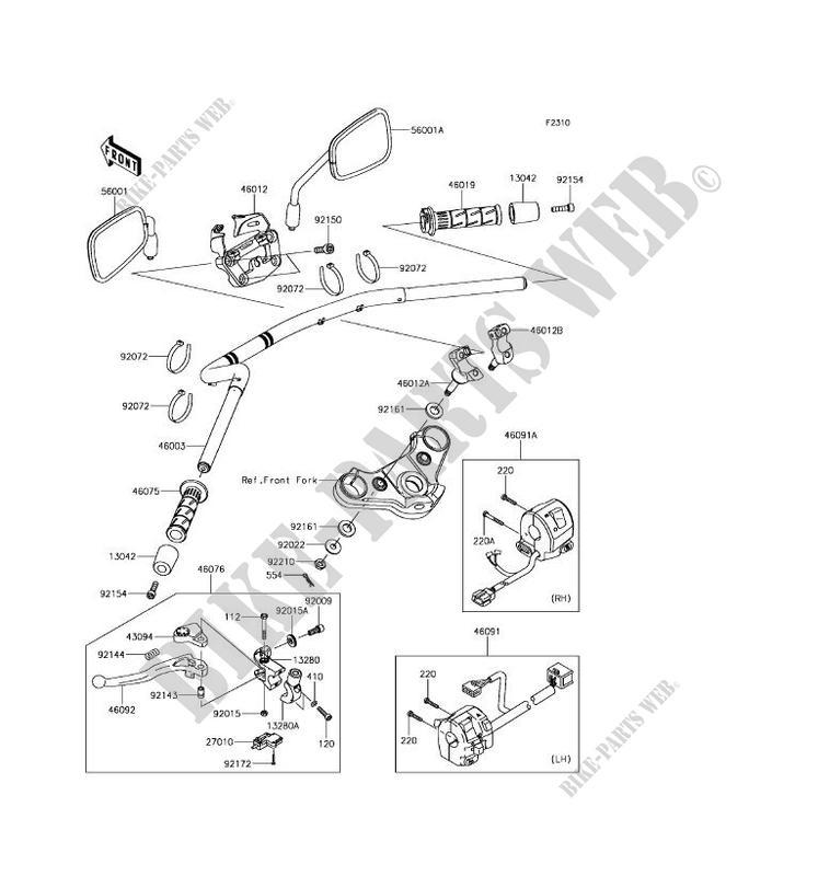 Kawasaki Motos 650 2017 Vulcan S Abs En650dhfa Handlebar: Kawasaki Vulcan S Wiring Diagram At Hrqsolutions.co