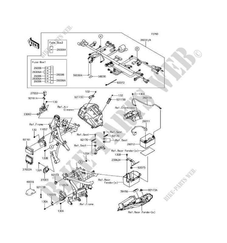 chassis electrical equipment for kawasaki z650 2017