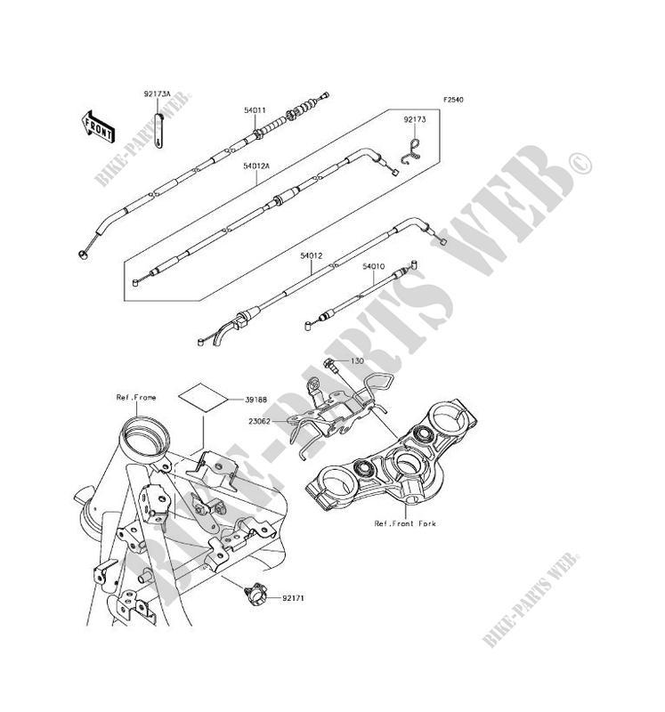 /83 Cavo dell acceleratore No Kawasaki Z 650/B F F3/F4/kz650b kz650/F kz650/F3/kz650/F4/77/