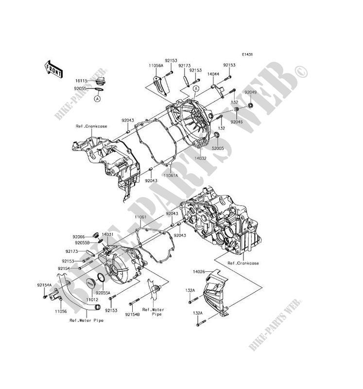 Engine Covers Ex300bhf Ninja 300 Abs 2017 300 Motos Kawasaki
