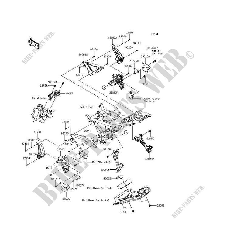 FRAME PARTS COUVERTURE EX650KHF NINJA 650 ABS 2017 650 MOTOS ...