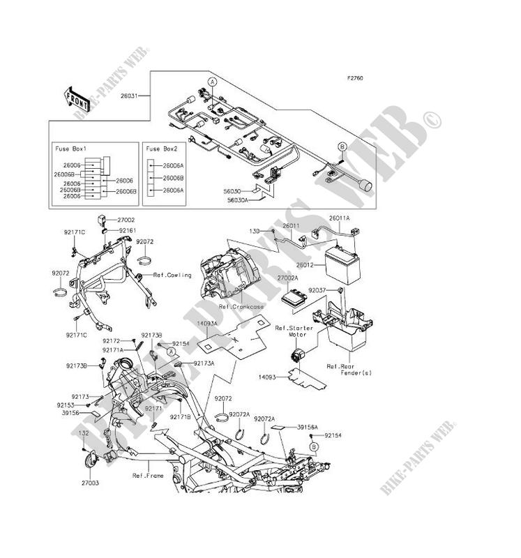 CHASSIS ELECTRICAL EQUIPMENT Kawasaki MOTOS 650 2016 VERSYS 650 KLE650EGF G_08 kawasaki ninja 650r wiring diagram online schematics diagram