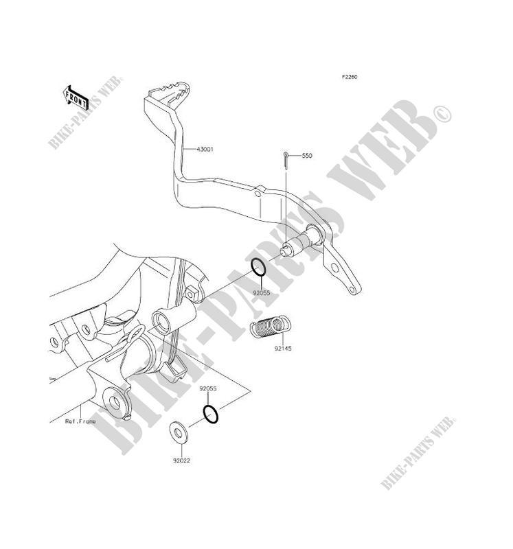 kawasaki motos 150 2016 d-tracker klx150hgf klx150hgf brake pedal