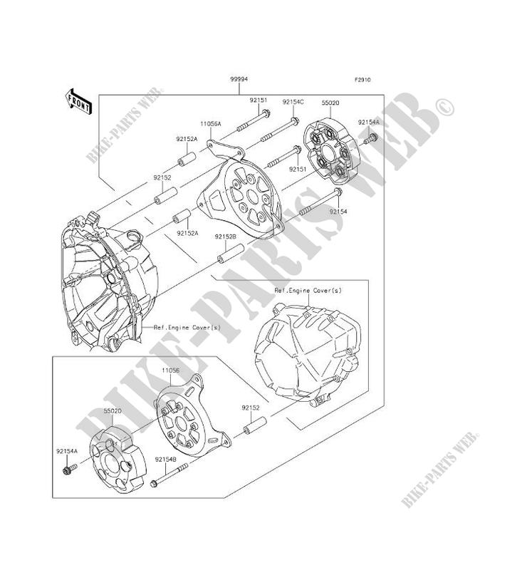 Accessory Protection Moteur Zr800bgf Z800 Abs 2016 800 Motos