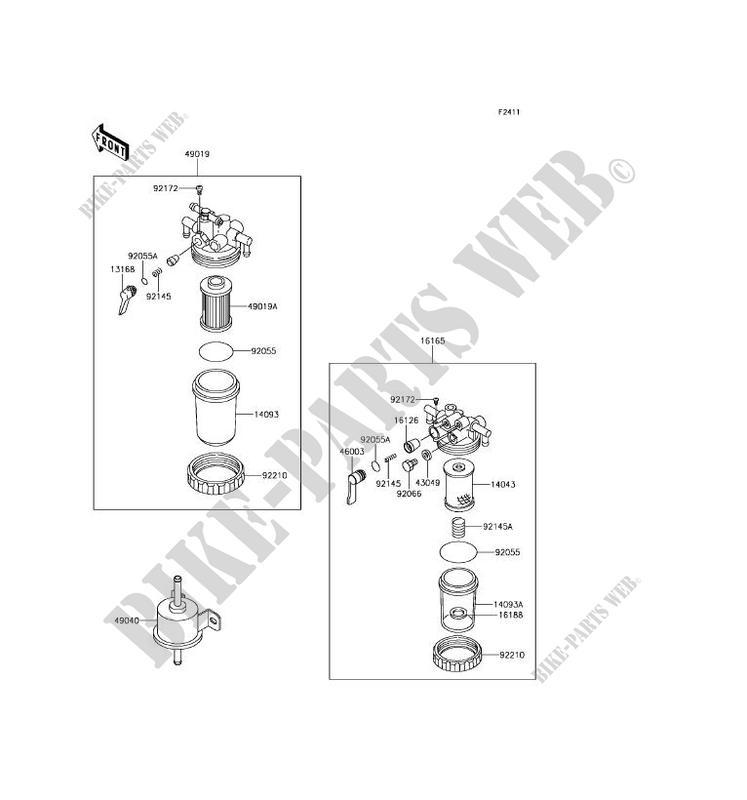 Kawasaki Mule Fuel Filter Number - Diagrams Catalogue on