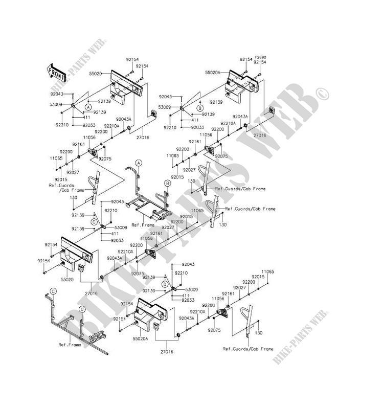 Kawasaki Ssv 820 2016 Mule Pro Fxt Kaf820bgf Door: Kawasaki Mule 3000 Engine Parts Diagram At Sergidarder.com