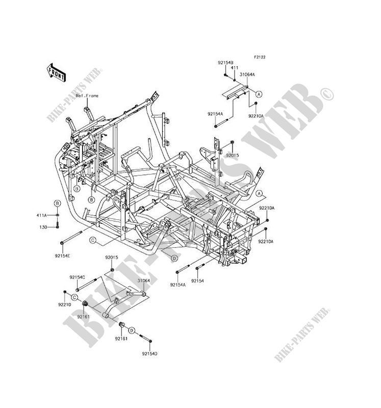ENGINE MOUNT for Kawasaki TERYX 4 LE 2017 # on
