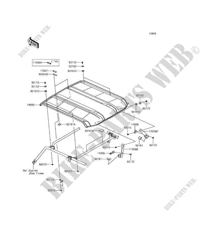kawasaki teryx 4 roof diagram  kawasaki  wiring diagrams