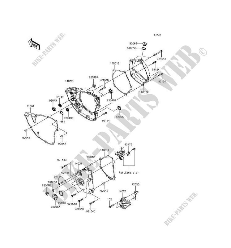 ENGINE COVERS Kawasaki KX250F 2017 250 KX252AHF 28295 KAWASAKI – Kx250f Engine Diagram