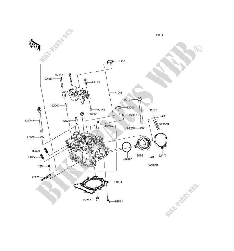 CYLINDER HEAD Kawasaki KX250F 2017 250 KX252AHF 28297 KAWASAKI – Kx250f Engine Diagram