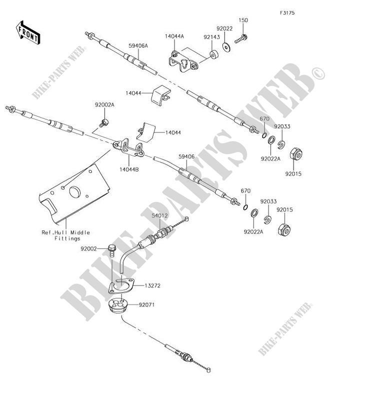kawasaki jet ski 1500 2018 jet ski stx-15f jt1500ajf jt1500ajf cables