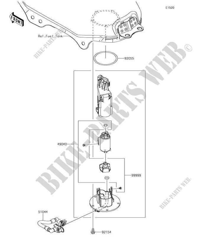 paraKawasaki 49040-0007 0008 0009 0018 0016 0724 VN1600 Vulcan 1600 Classic Nomad VN2000 Vulcan 2000 Limited Z750 ABS Z750S Z750R 2003 2004 2012 Bomba Combustible de gasolina 12V