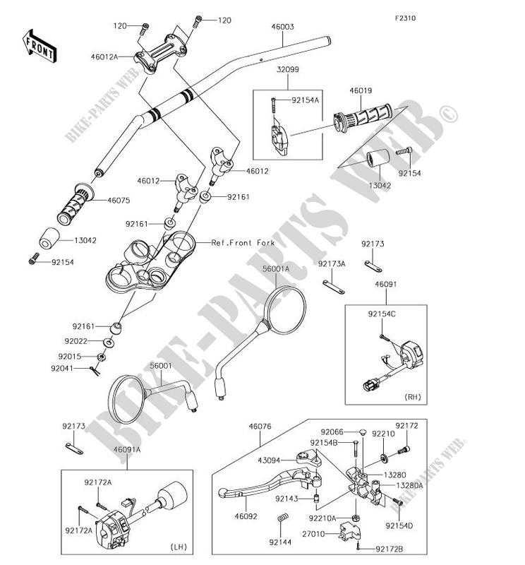 Kawasaki LEVER-GRIP 46092-0570