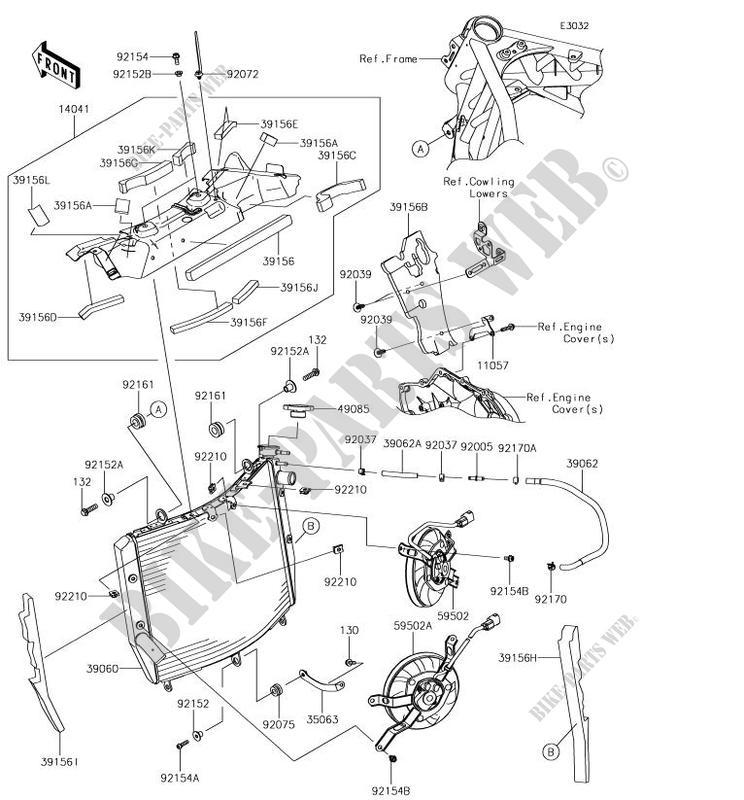 Radiator Zx1002bjf Ninja H2 Sx Se 2018 1000 Motos Kawasaki