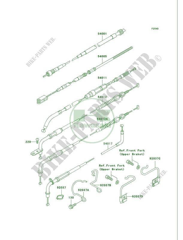 Cables Vn750 A21 Vulcan 750 2005 Motos Kawasaki Motorcycle Rhbikepartskawa: Vn750 Headlight Wiring Diagram At Gmaili.net