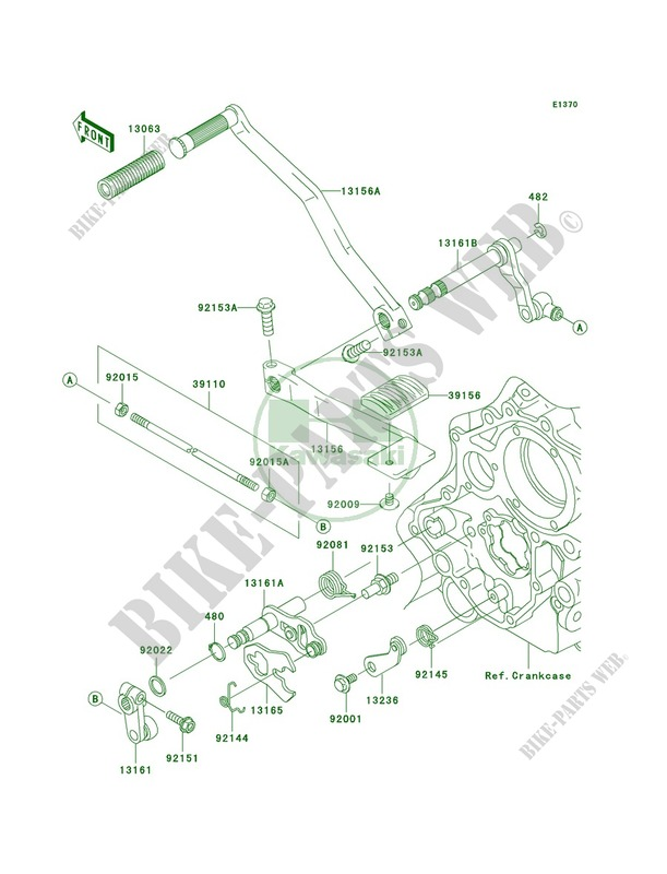 Gear Change Mechanism Vn1600 A2 Vulcan 1600 Classic 2004 1600 Motos