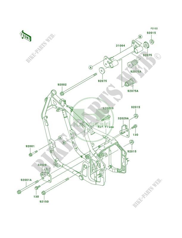 engine mount for kawasaki vulcan 800 classic 2003 Kawasaki Engine Mounting Diagrams Kawasaki Engine Mounting Diagrams #3