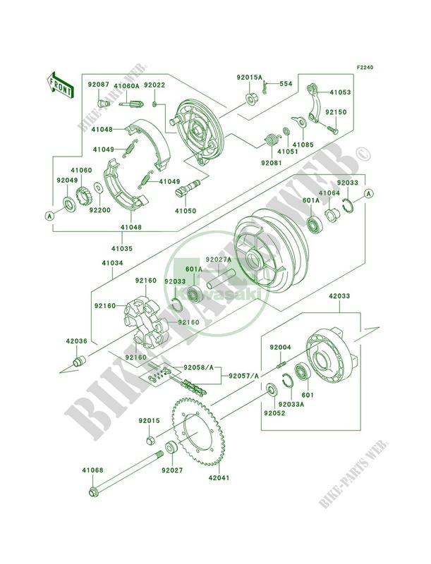 01 Kawasaki VN800 Vulcan DRIFTER Rear Cush Drive Hub Rubbers