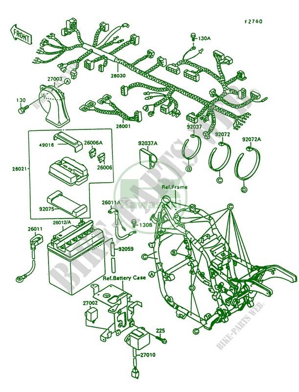 1997 kawasaki vulcan 1500 wiring diagram chassis electrical equipment for kawasaki vulcan 1500 1997  kawasaki vulcan 1500 1997