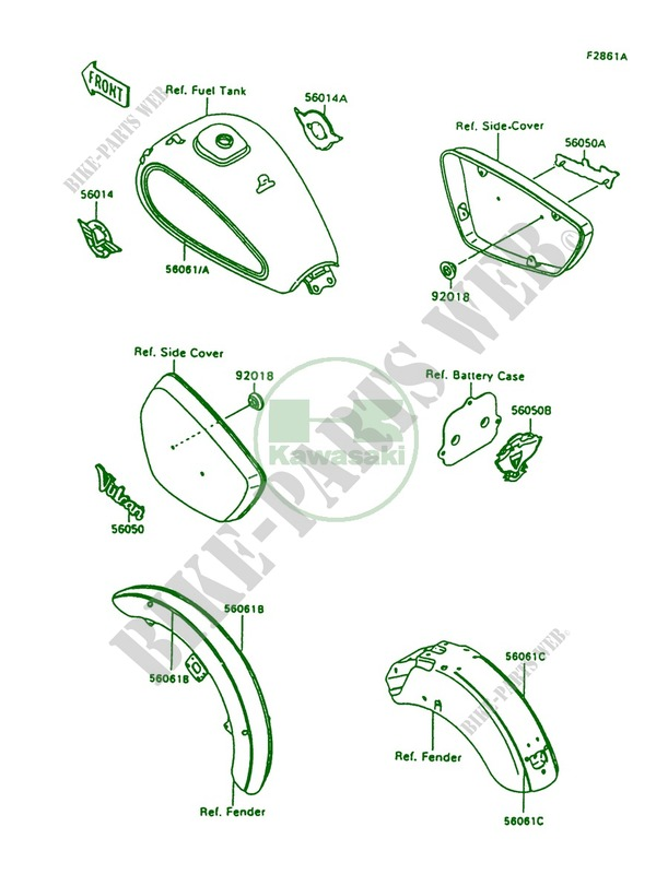 1997 Kawasaki Vulcan 1500 Parts List
