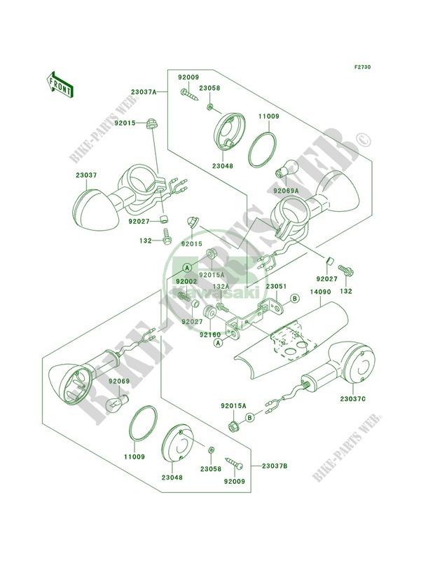 Kawasaki BRACKET-SIGNAL LAMPR 23051-1230